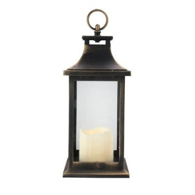 Gold Brushed Black Candle Lantern picture 2