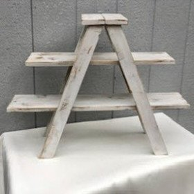 50-cupcake Rustic White Display stand