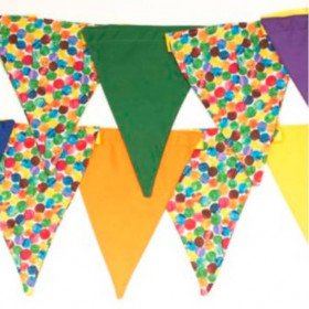 140 Feet - Multicolored Bunting Banner