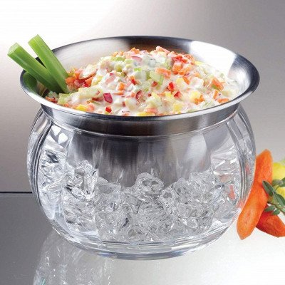 Iced Dip-On-Ice Stainless-Steel Serving Bowl picture 2