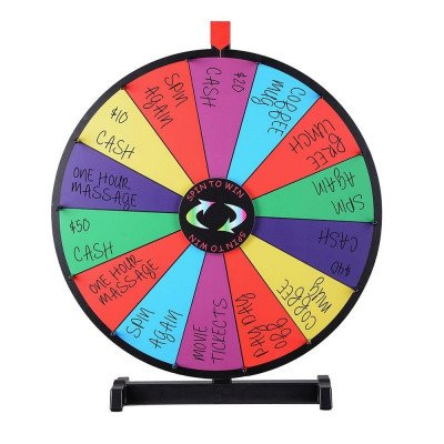 tabletop spinning prize wheel picture 1