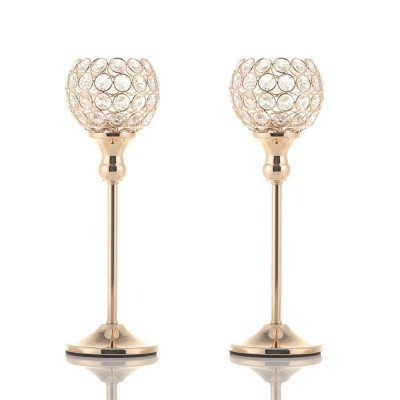 gold crystal candlestick picture 1