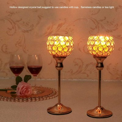 gold crystal candlestick picture 2