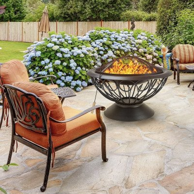 outdoor fireplace picture 1