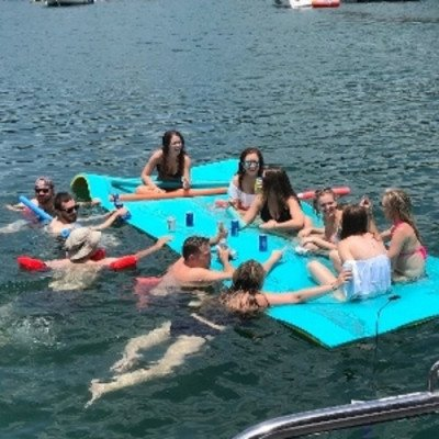 pontoon boat- lake travis - up to 14 persons mon - thu-5
