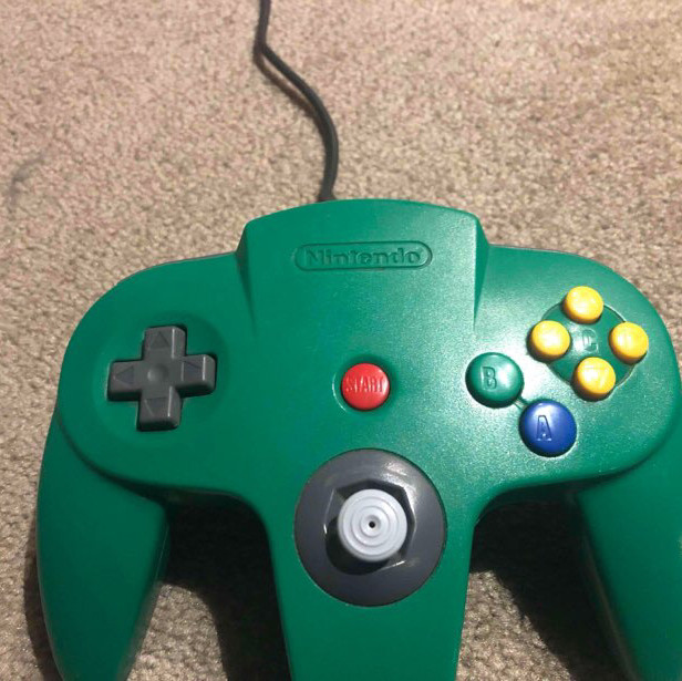 Nintendo 64 with various games