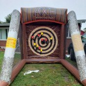 Inflatable axe throwing game