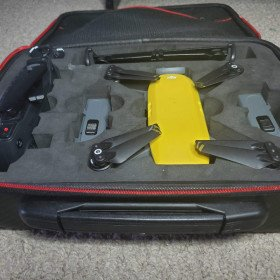 DJI Spark Drone with 3 Batteries, controller, hub, case