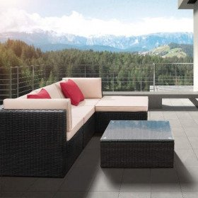 5 piece patio furniture set all weather