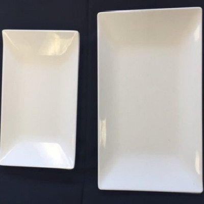 """White Platter - 11.5"""" x 7"""" picture 1"""