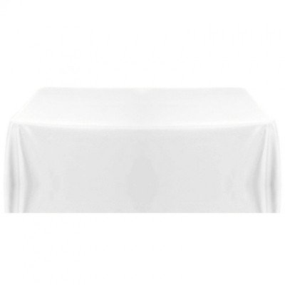 """White linen - rectangle tablecloth - 90"""" x 156"""" picture 1"""