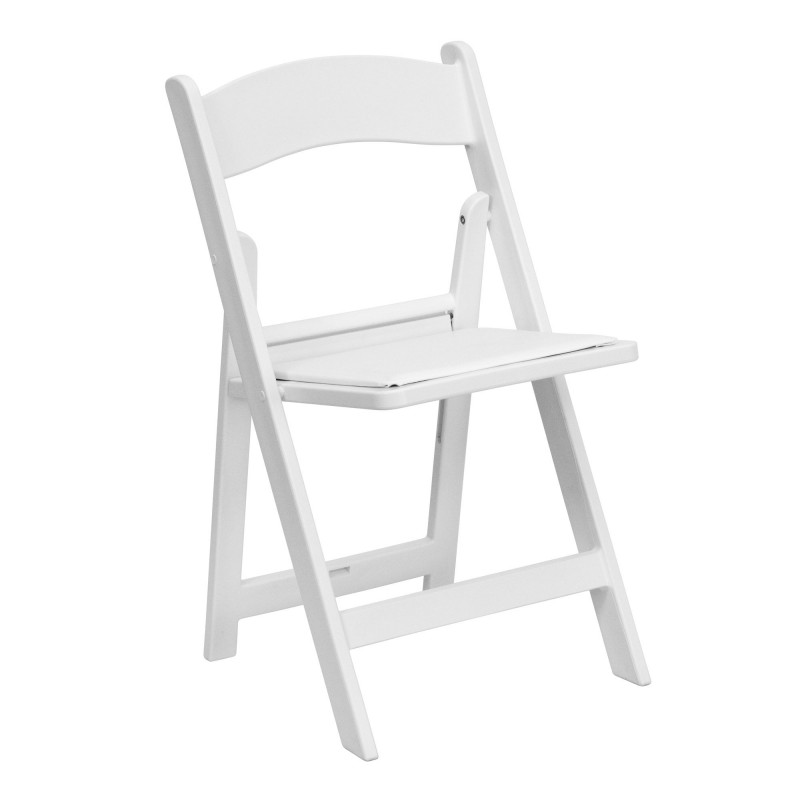 Folding Chair - Resin - White