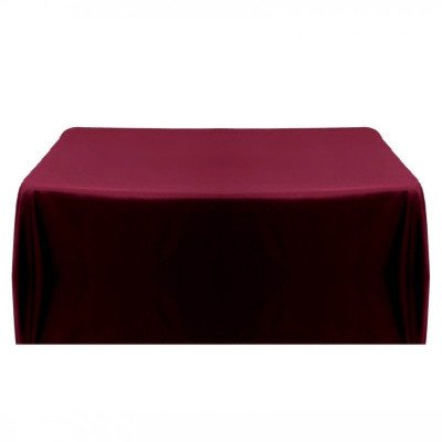 "Linen - 90"" x 132"" - burgundy tablecloth picture 1"