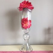 """Clear Bell Vase - 20"""""""