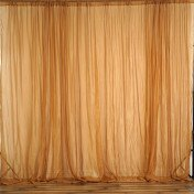 Backdrop - 8' x 10' - Gold Sheer Voil - drape only