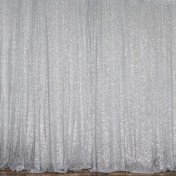 Backdrop - 8' x 10' - Silver Sequin - drape only