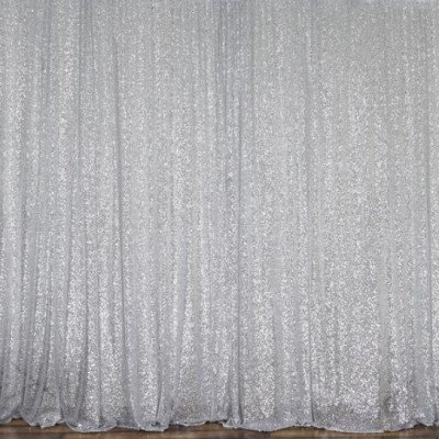 Backdrop - 8' x 10' - Silver Sequin - drape only picture 1