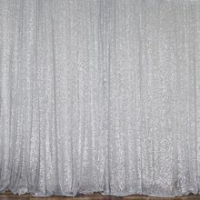 Backdrop - 8' x 10' - Silver Sequin drape