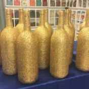 Gold Glittered Centrepieces