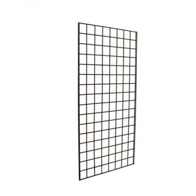 Black grid wall display picture 1