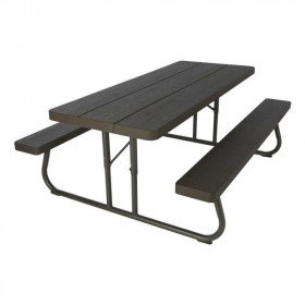 Black Folding Picnic Table