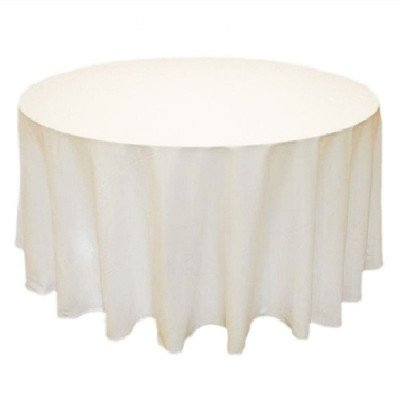 """90"""" Round Table Cover - Ivory picture 1"""