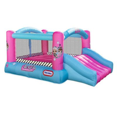jump 'n slide inflatable bounce house with blower