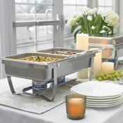 foldable frame buffet chafer set