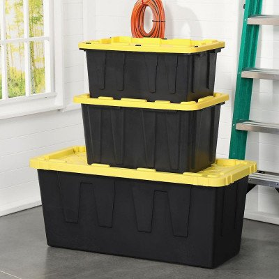 strong storage bin with lid
