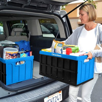collapsible storage bins with lids