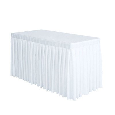 polyester table skirt - white-1