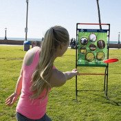 flying disc toss - backyard and lawn game