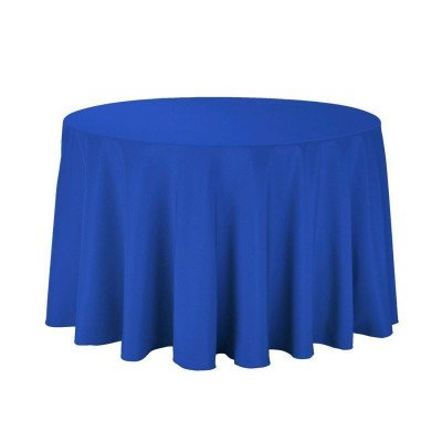 round tablecloth - royal blue