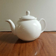 Giant white teapot
