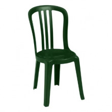 Plastic dark green chairs
