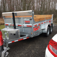 Dump trailer for rent 6x12