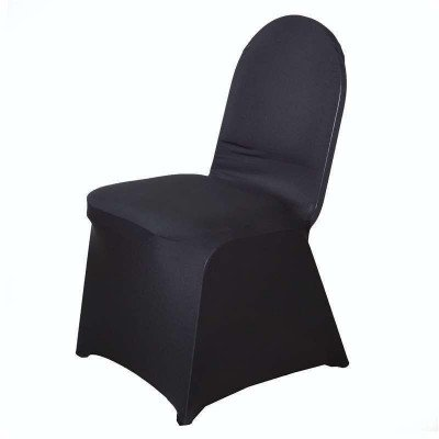 spandex chair covers - black-1