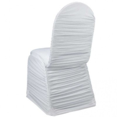 ruched chair cover - white