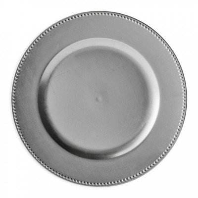 charger plates - silver