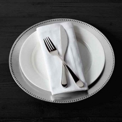 charger plates - silver-1