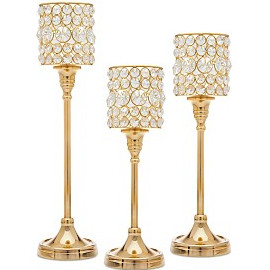 Sophia gold crystal stands