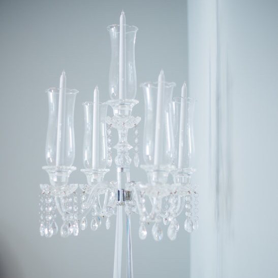 luxe crystal clear chandelier