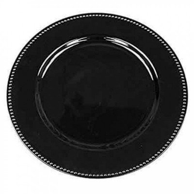 charger plates - black