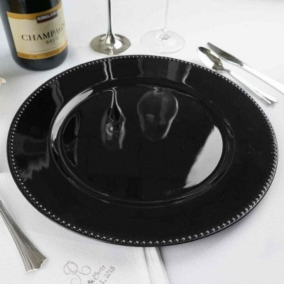 charger plates - black-1
