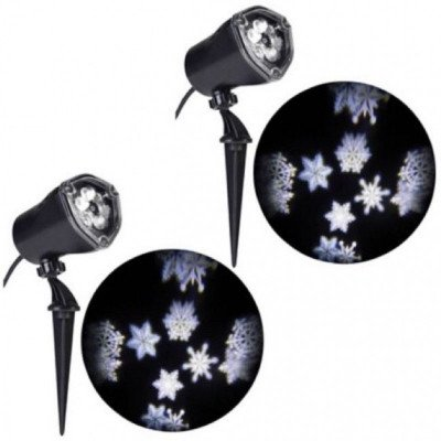 snowflake led projector decoration- noma-1