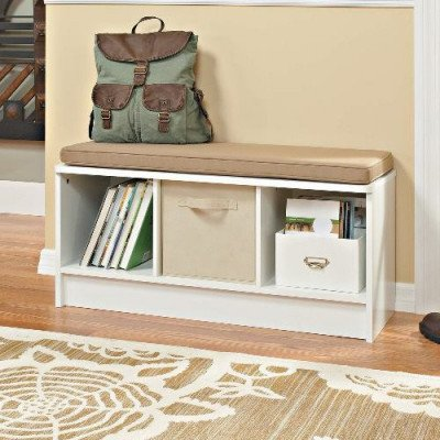 3-cube storage bench - white picture 1