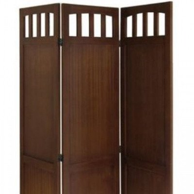 3-Panel Wood Folding Screen picture 1