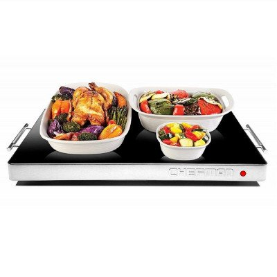 electric warming tray with adjustable temperature control picture 1