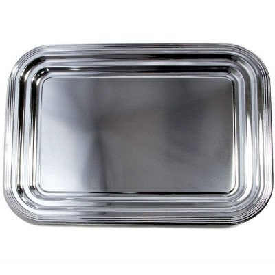 chrome plated serving tray