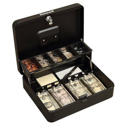 tiered cantilever cash box